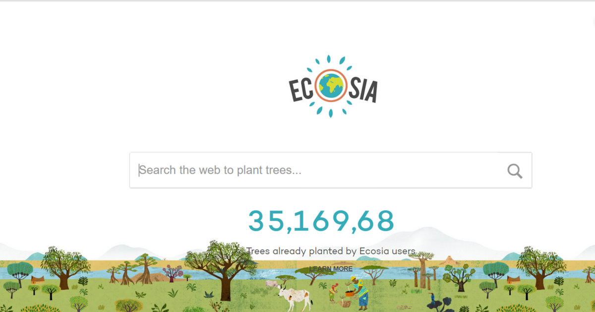 My Happy Footprint - Ecosia - The search engine that plants trees